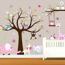 elephant wall decals for nursery jungle wall decals for nursery large baby nursery woodland wall decal