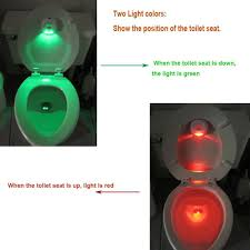 Toilet Night Light Auto Sensing Led Seat Lamp Auto Sensing Pir Body