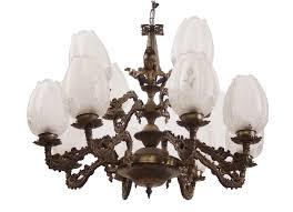 Kronleuchter Messing Deckenleuchter Lampe Glasschirm Leuchter