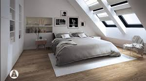 The bedroom has a bed that Anthony built of old pallets. The house's attic  has