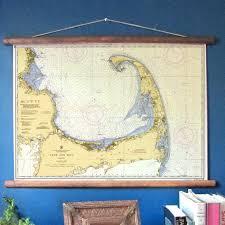 Vintage 1950 Nautical Chart Reproduction Cape Cod