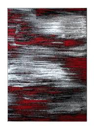 contemporary red rugs rugs modern contemporary area rug red grey black 8 feet x