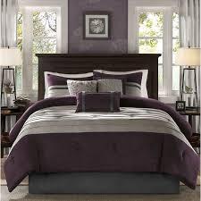 plum comforter set ideas comfor with wonderful purple and grey bedding desi