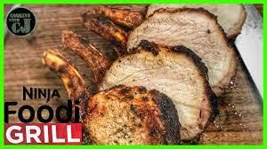 ninja foodi grill pork loin with garlic