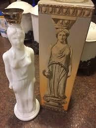 <b>Vintage</b> 1969-70 AVON Greek Milk <b>Glass</b> Lady <b>Statue</b> SKIN SO ...