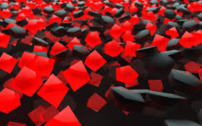 Abstract - Red Colors Pattern Cube Black Abstract Wallpaper