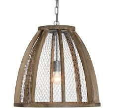 en wire pendant light wood and metal pendant light