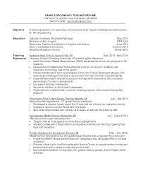 Teacher Resume Objective Sample Teacher Resume Objective Samples Language Arts Teacher