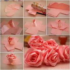 Easy Paper Origami Flower How To Diy Easy Paper Roses Diy Paper Flowers Diy Paper