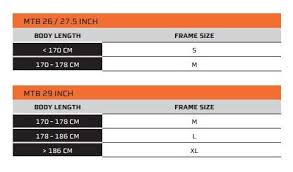 Sizing Guides And Charts