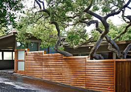 exterior wood fences. modern wood fence exterior contemporary with metal address number oak trees sandblasted glass gate fences