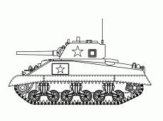 Kleurplaat Tank Zacov