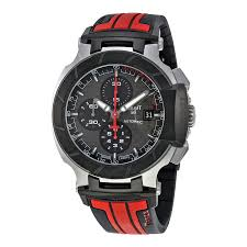 tissot t race watches jomashop tissot t race motogp chronograph automatic grey dial black and red rubber men s watch