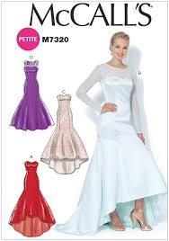 High Low Skirt Pattern Simple Misses And Miss Petite MermaidHem And HighLow Dresses McCalls