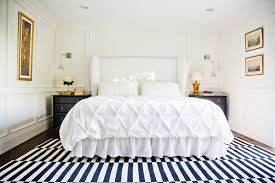 pintuck duvet cover bedroom transitional with black side tables black nightstands