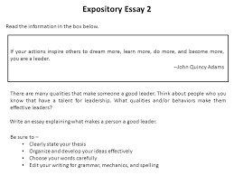 a word from the state a word from the state ppt video online expository essay 2 the information in the box below