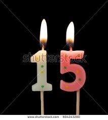 Free Photos Birthday Candle On Black Background Number 15 Avopix Com