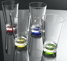 acrylic drinking glasses 8 oz clear w color base acrylic plastic cup drinking glass tumbler