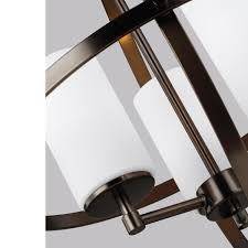 sea gull lighting 3124603 848 satin bronze alturas 3 light 19 wide pillar candle globe chandelier lightingdirect com