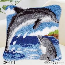 diy carpet embroidery rug kits knitting needles latch hook 40 40cm home sofa throw dolphin pillowcases for kids outdoor chair cushions patio