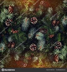 Christmas Tree Cone With Lights Holiday Background Christmas Tree Branches Spruce Juniper