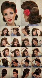 victory roll pin up tutorial vine look pin up victory rolls plete hair style