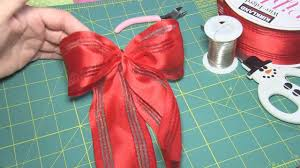 How to Make an Easy Bow for a gift or Christmas tree - step by step  instructions - YouTube