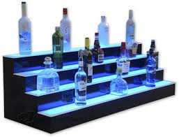 Bar Bottle Display Stand Best 32 32 Step Tier LED Lighted Shelves Illuminated Liquor Bottle Bar