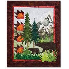 Quilt Patterns with North woods flair, Quilts with bears and moose ... & Bear Country Quilt Patterns | Art Quilt Kits | Northern Threads Adamdwight.com