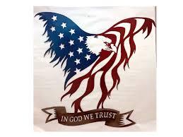 eagle flag metal art eagle art
