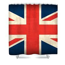 united kingdom union jack flag vintage distressed finish country nation next curtains shower curtain argos design