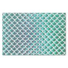 Mermaid Pattern Extraordinary Mermaid Tail Scale Pattern Tissue Paper Zazzlecouk