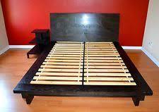west elm queen bed. Wonderful West West Elm Bedroom Dark Wood Platform Bed Queen Size Plus Night Table Throughout Elm O