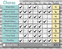 Gray Wood Customized Printable Chore Chart Behavior Chart Reward Chart Editable Diy