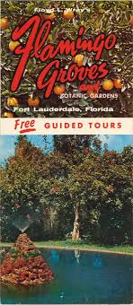 brochure for floyd l wray s flamingo groves and botanic gardens in fort lauderdale