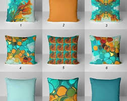 colorful throw pillows. Delighful Colorful Throw Pillows Teal Orange Pillow Covers Decorative Cushions  Abstract Colorful Pillows Mix And Match Blue Turquoise Green On E