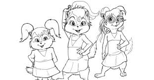 Small Picture Alvin Chipmunk Coloring Pages Chipmunks Gekimoe 16842