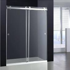double bypass shower doors inch double sliding glass shower door frameless double bypass shower doors