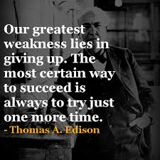 Popular Thomas Edison Quotes About One More Time Golfian Magnificent Thomas Edison Quotes