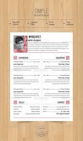 Modern Resume Template Cnet Simple Resume Resume Pinterest Resume Simple Resume And