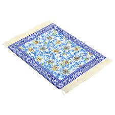 28cmx18cm blue flower bohemia style persian rug mouse pad for desktop pc laptop computer banggood com sold out