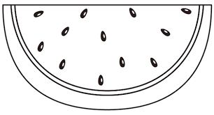 スイカを割ったイラストの描き方 イラレ秘奥パスファインダ分割
