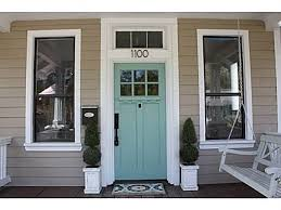 front door colors for beige houseaqua front door color with tan sidingjust about perfect for my