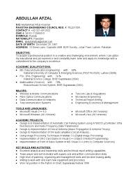 Resume Telecommunication Engineer