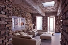 old loft architecture with brickwall design