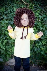 easy last minute no sew kids lion costume at anightowlblog com