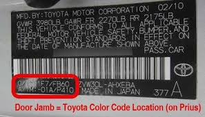 Toyota Color Codes General Chart Template Optional Photo And – Famreit