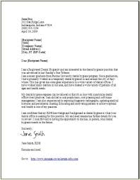 Cover Letter Examples For Dentist Jobs Free Cover Letter