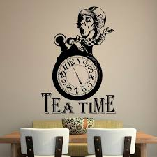 Alice In Wonderland Wall Decal Quote Tea Time Quotes Wall Etsy Unique Wall Decal Quotes