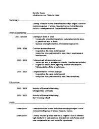 Job Resume Template Inspiration 60 Basic Resume Templates